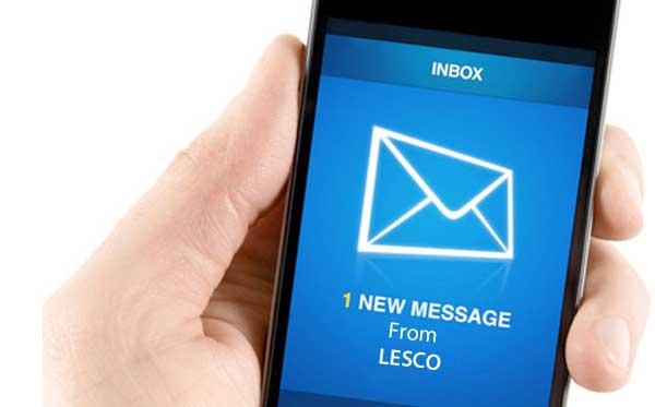 SMS Registration | LESCO Online Bill